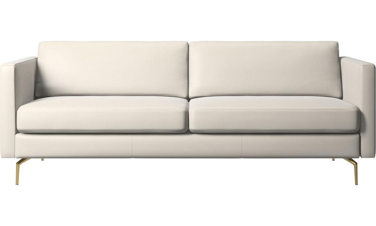 2.5 seater sofas - Osaka sofa, regular seat - White - Leather