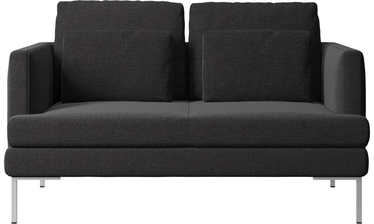 Kétszemélyes kanapék - Istra 2 kanapé - Fekete - Huzat