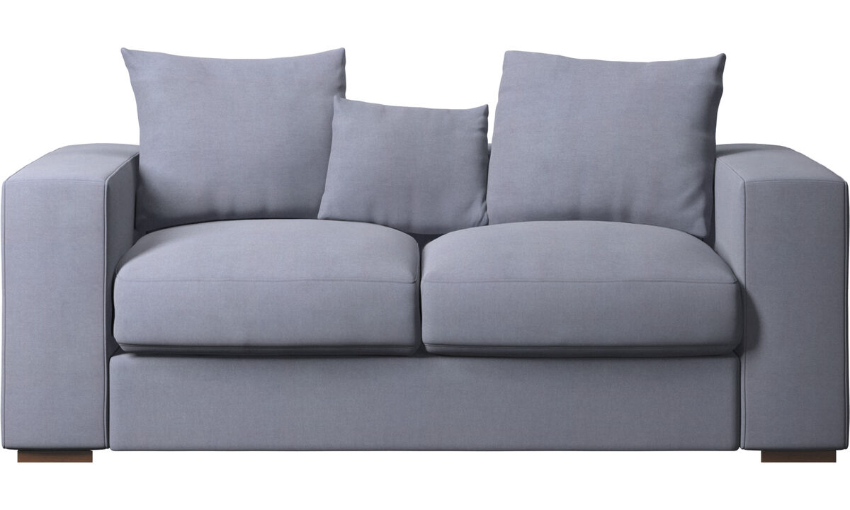 2-sitzer Sofas - Cenova Sofa - Blau - Stoff