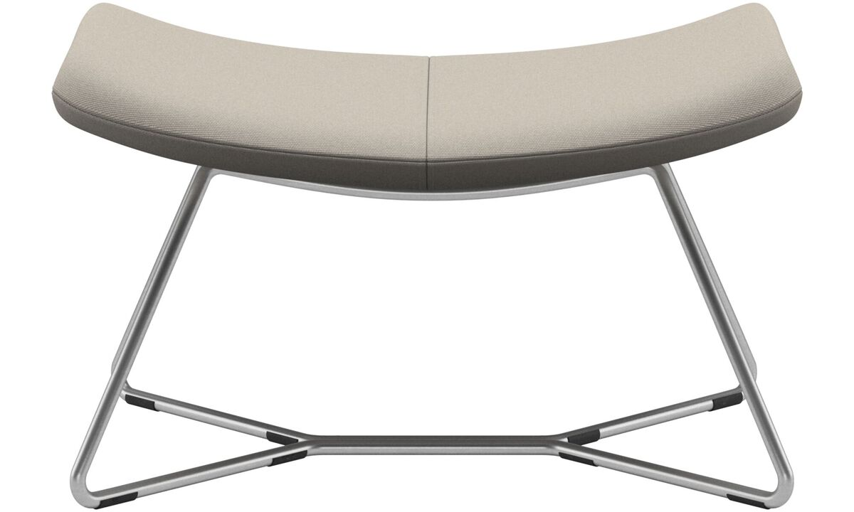New designs - Imola footstool - White - Fabric