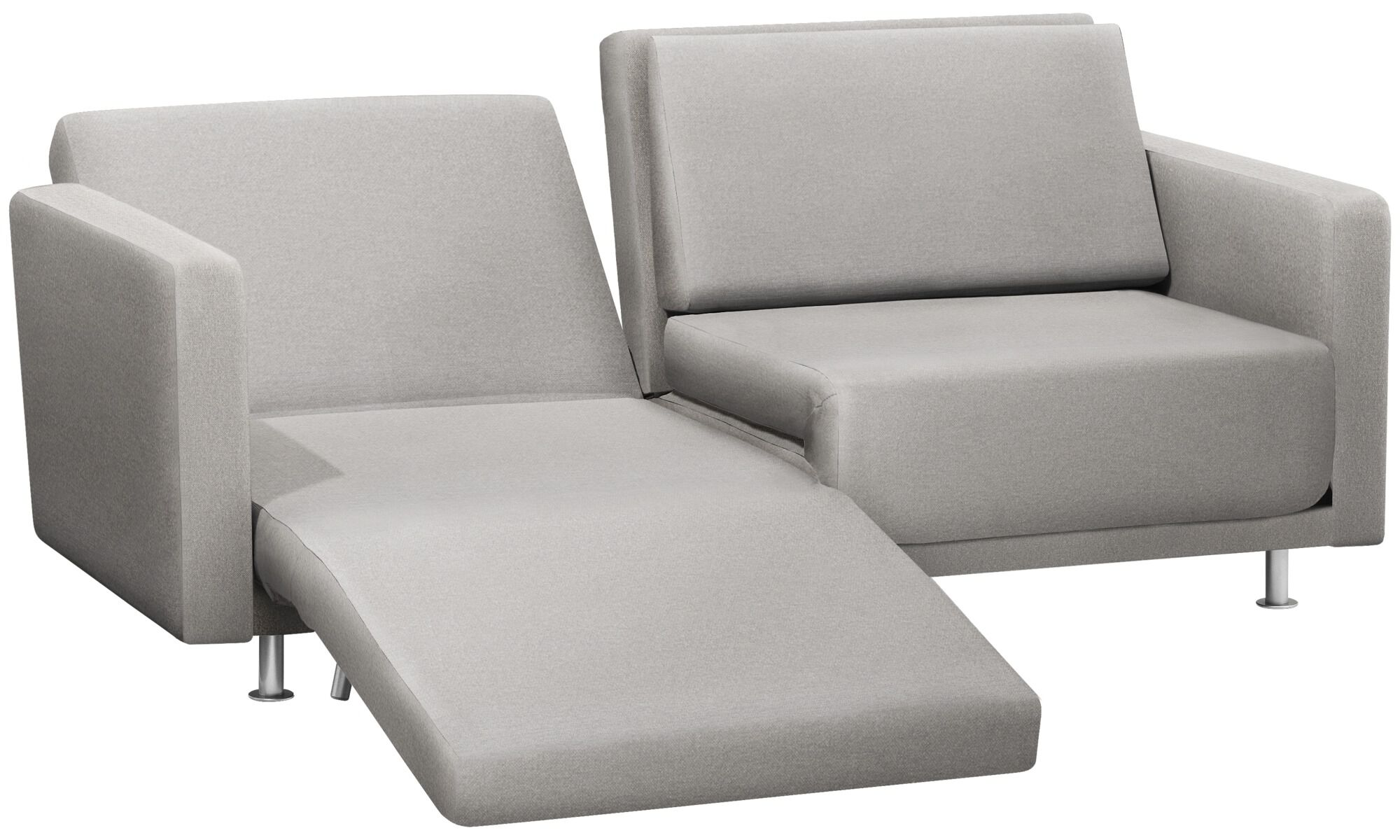 Sofa Beds   Melo 2 Sofa With Reclining And Sleeping Function   Gray   Fabric