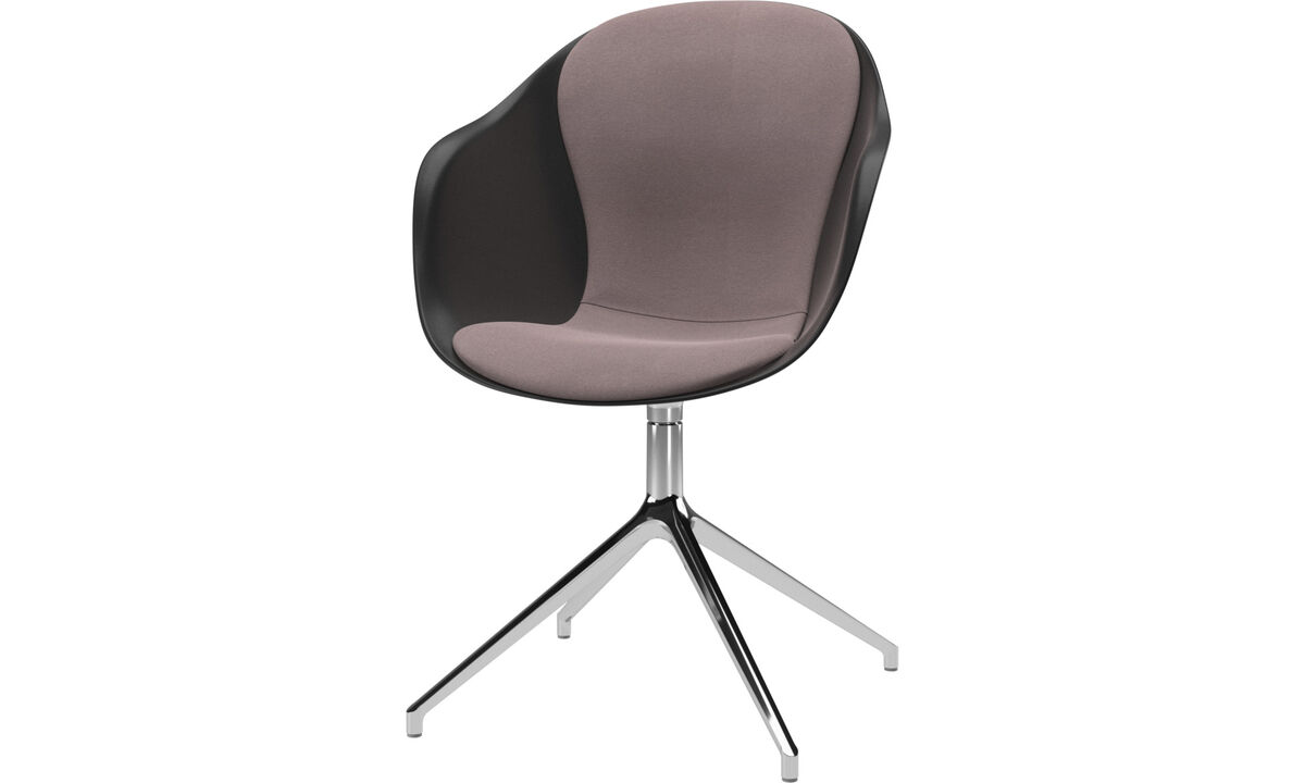 Dining chairs - Adelaide chair with swivel function - Purple - Fabric