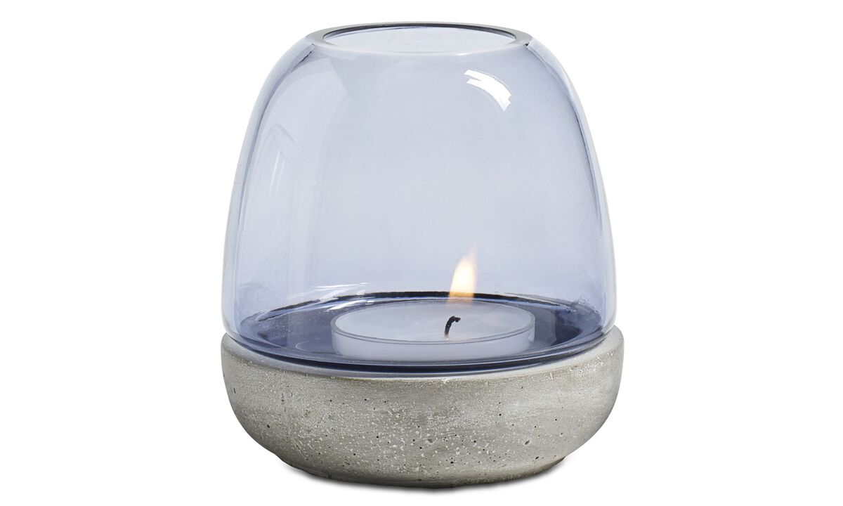 Candle holders - Combi tealight holder - Blue - Glass