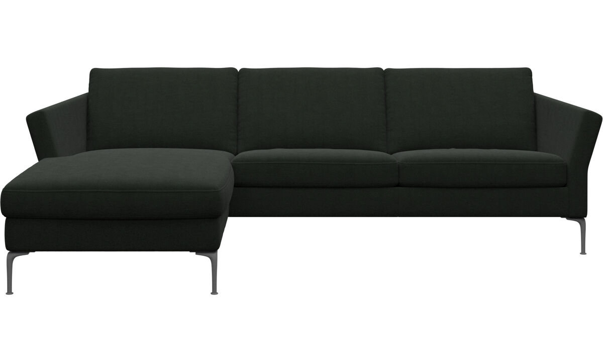 Chaise longue sofas - Marseille sofa with resting unit - Green - Fabric