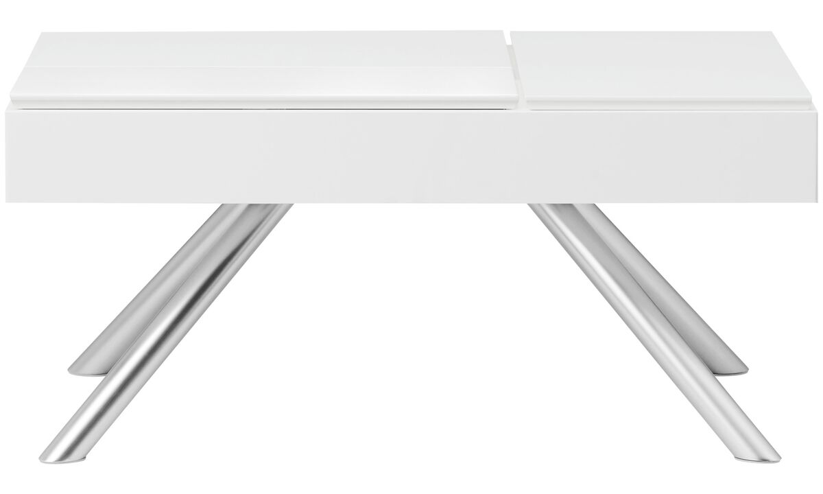 Coffee tables - Chiva functional coffee table with storage - square - White - Lacquered