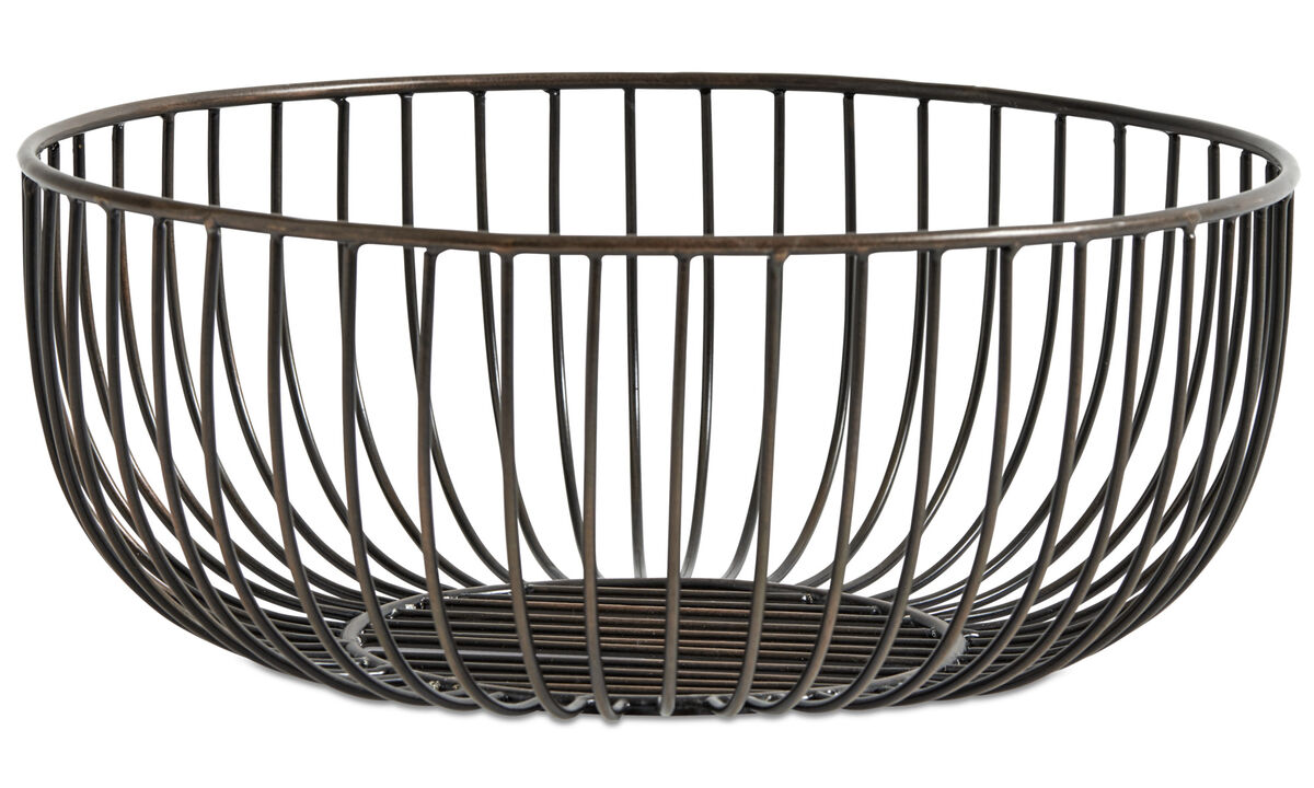 Decoration - Wire bowl - Brown - Metal