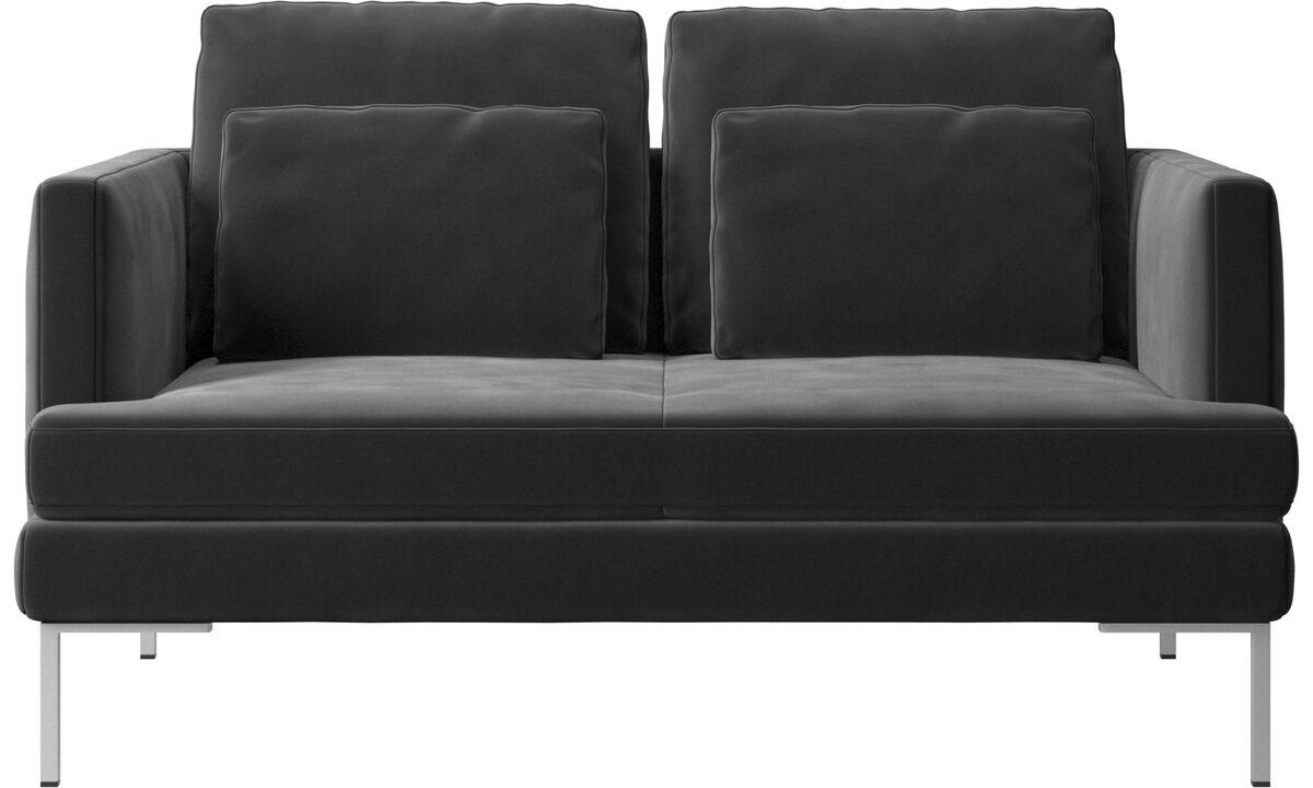 2 seater sofas - Istra 2 sofa - Black - Fabric