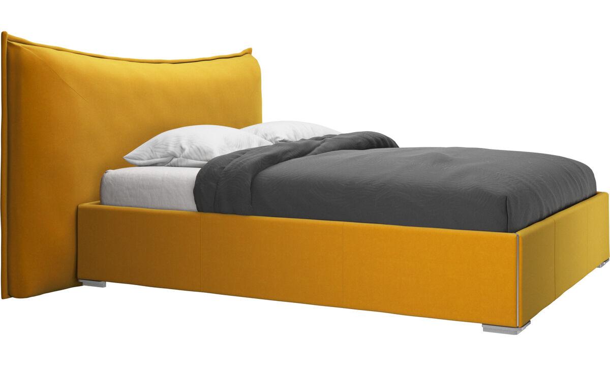 Nuevas camas - Cama Gent, no incluye colchón - Naranja - Tela