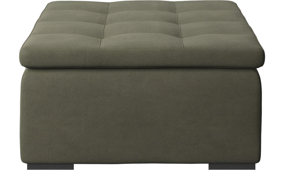 Footstools - Mezzo footstool - Green - Leather