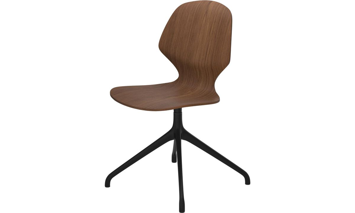 Design furniture in time for Christmas - Florence chair with swivel function - Brown - Walnut