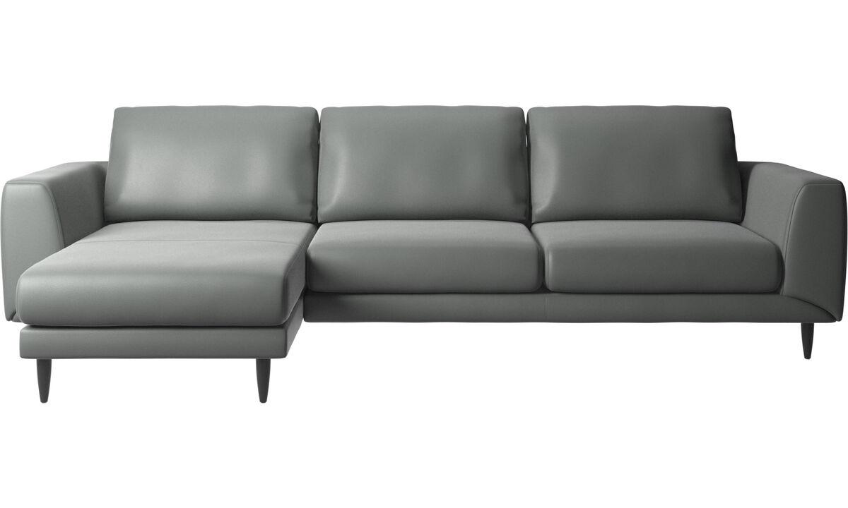 Sofas - Fargo sofa with resting unit - Gray - Leather