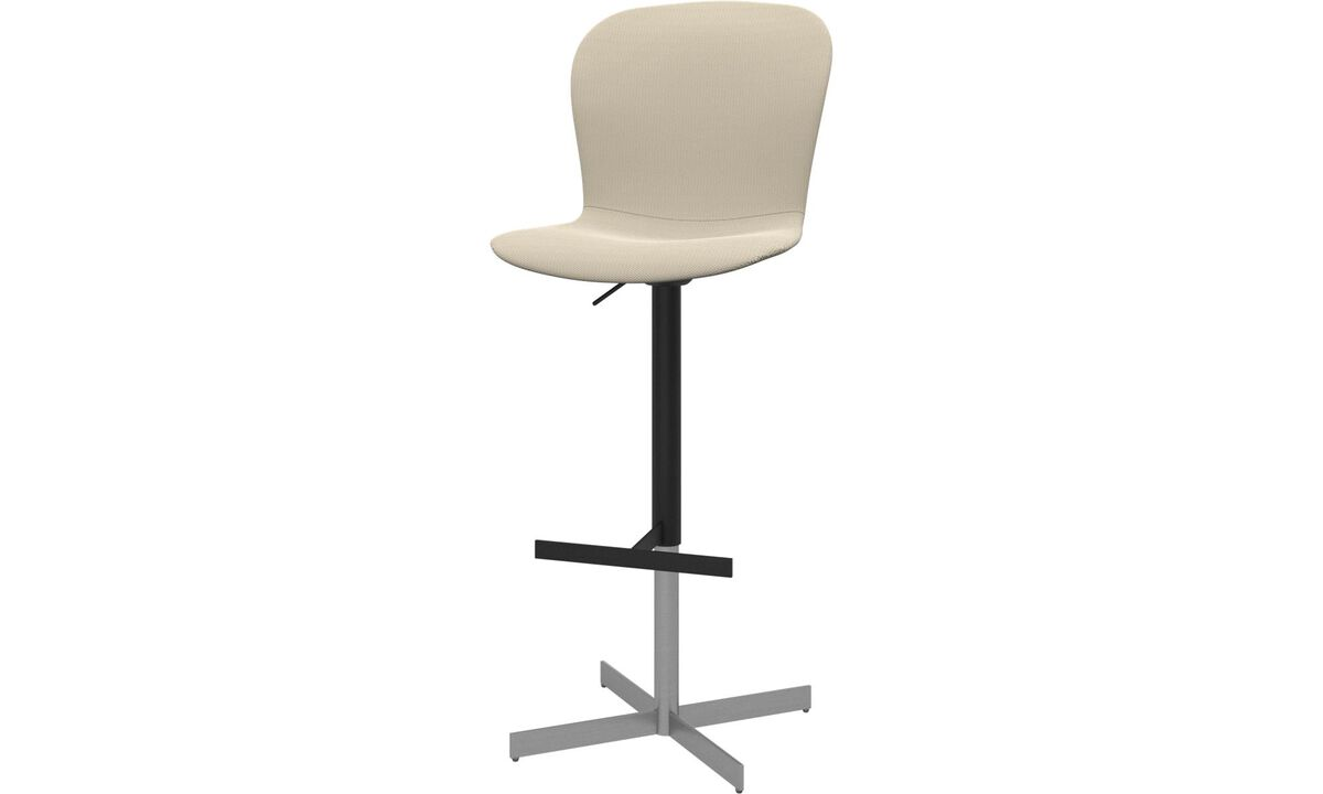 Bar stools - Adelaide barstool with gas cartridge - White - Fabric