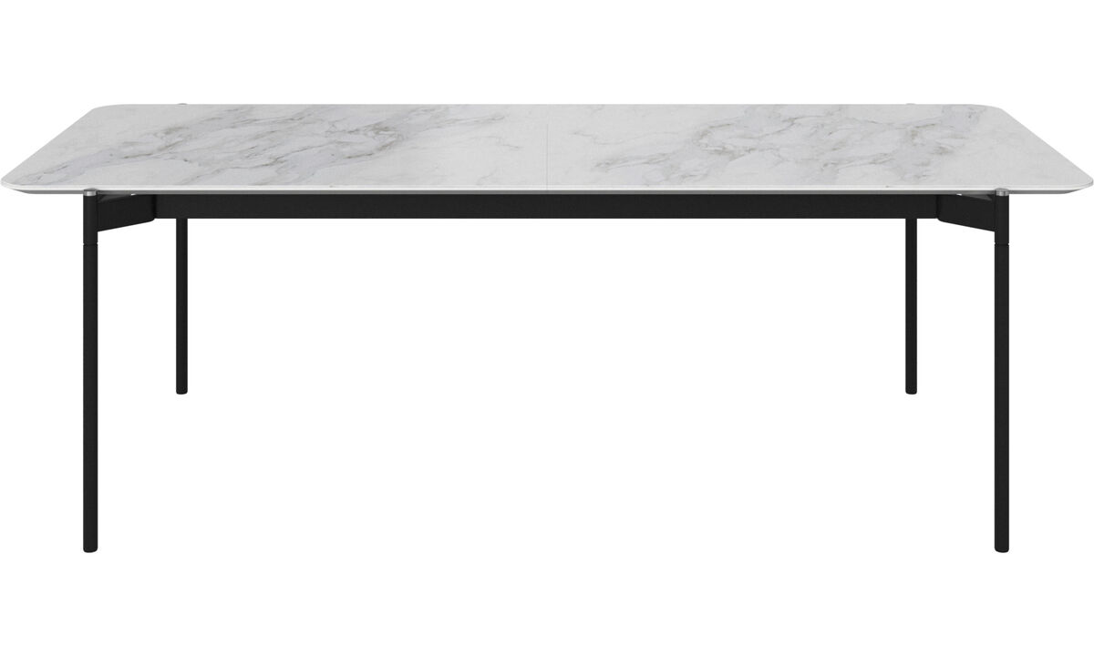 Dining tables - Augusta table with supplementary tabletop - rectangular - White - Ceramic