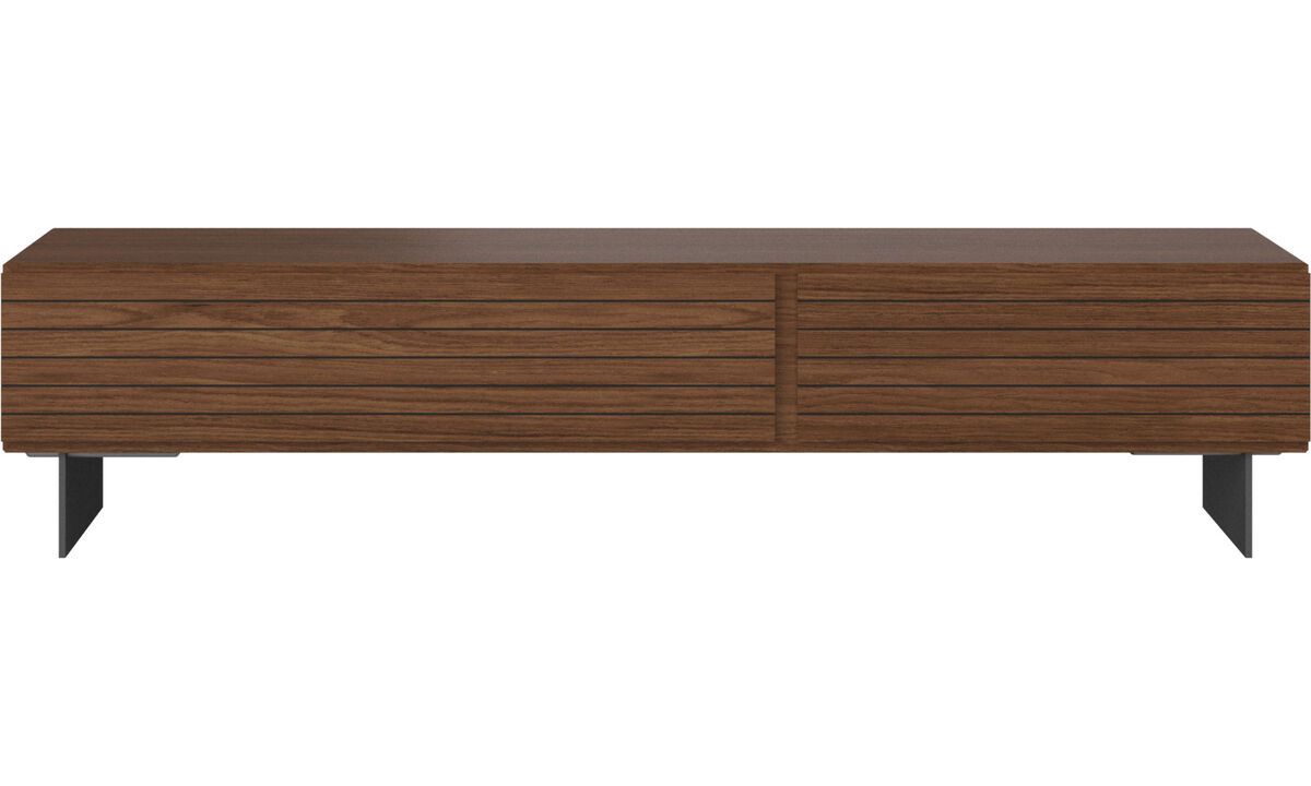 Tv units - Lugano entertainment unit with drawers - Walnut