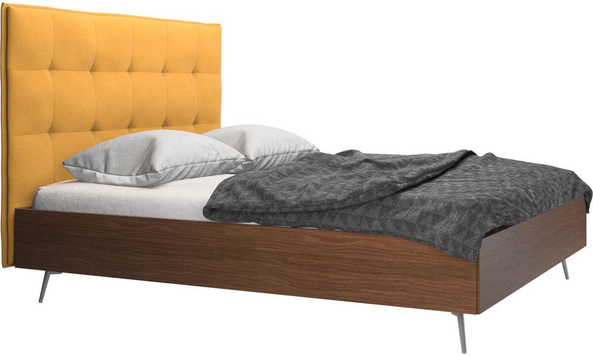 Nuevas camas - Cama Lugano, no incluye colchón - En amarillo - Tela
