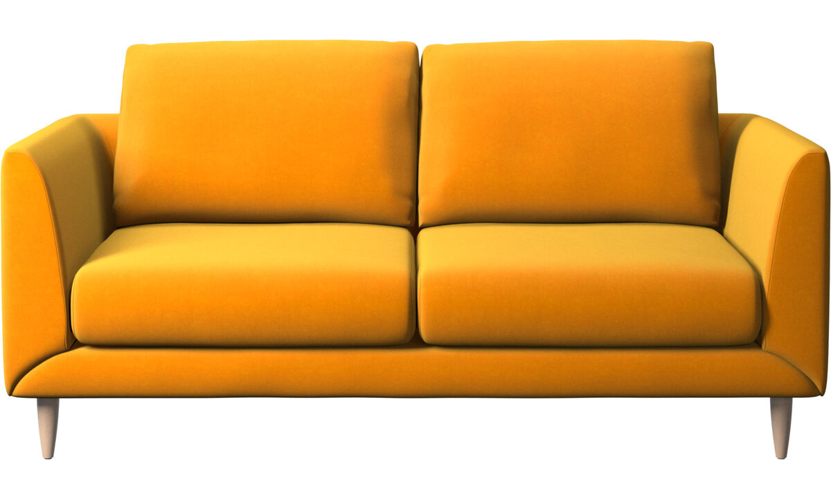 2 seater sofas - Fargo sofa - Orange - Fabric