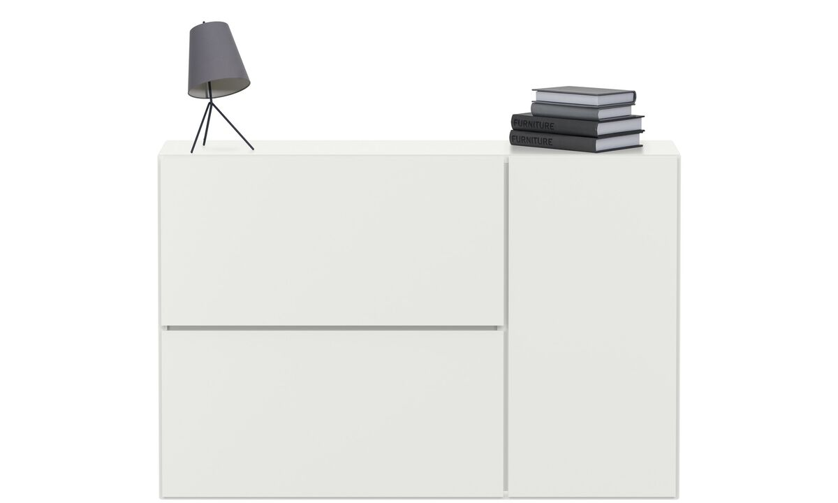 Wall Units - Lugano wall mounted wall system - White - Lacquered