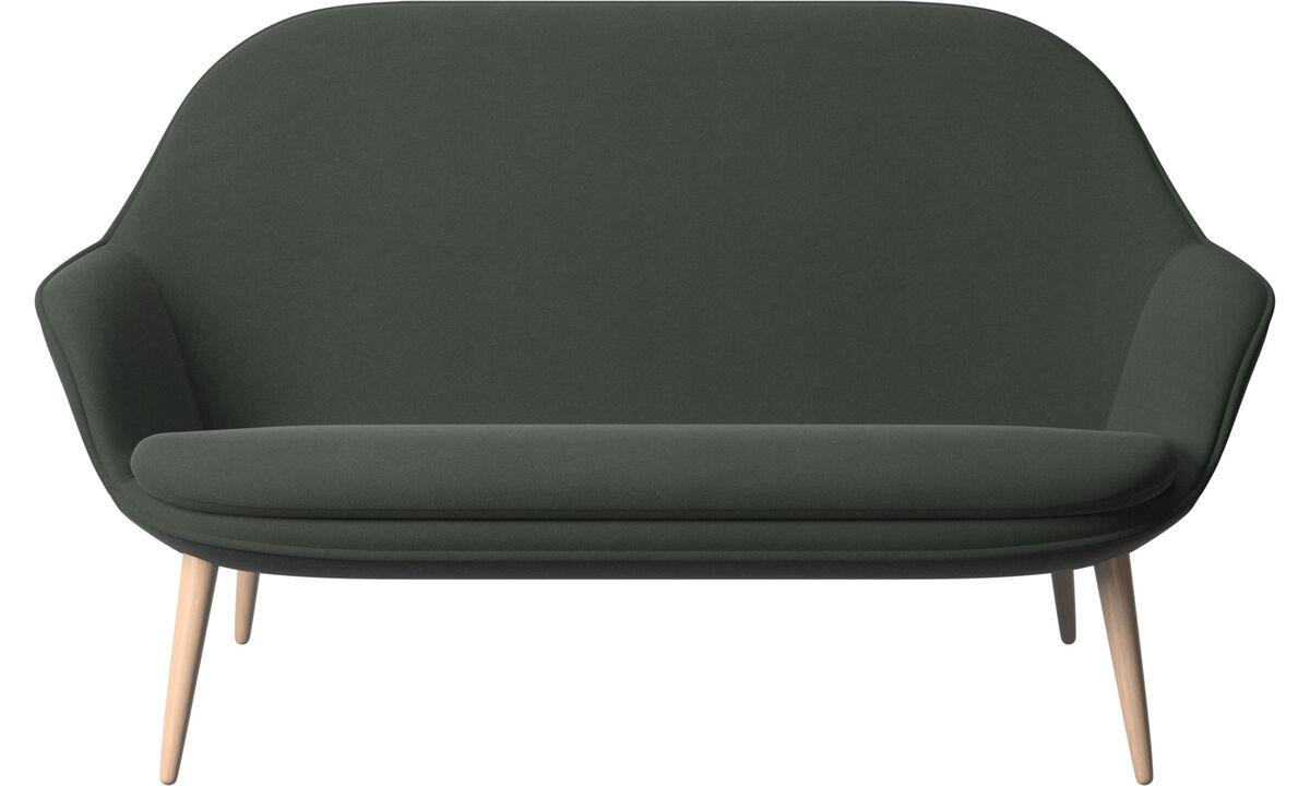 Sofás de 2 plazas - sofá Adelaide - En verde - Tela