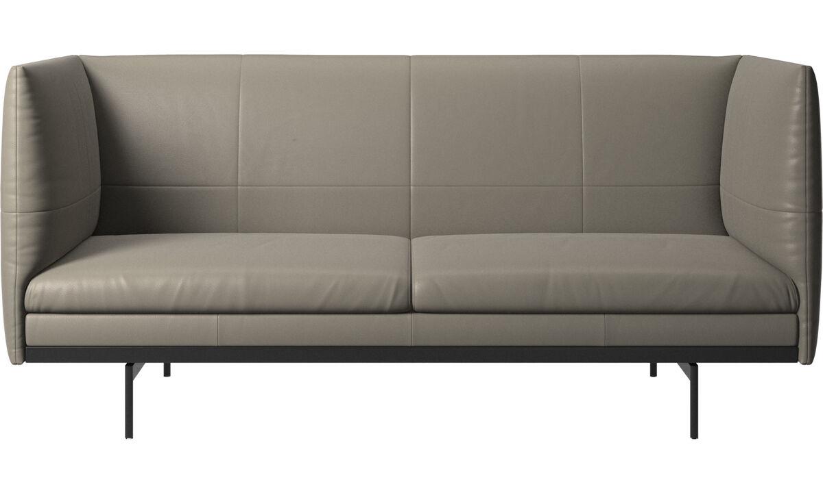 2 seater sofas - Nantes sofa - Grey - Leather
