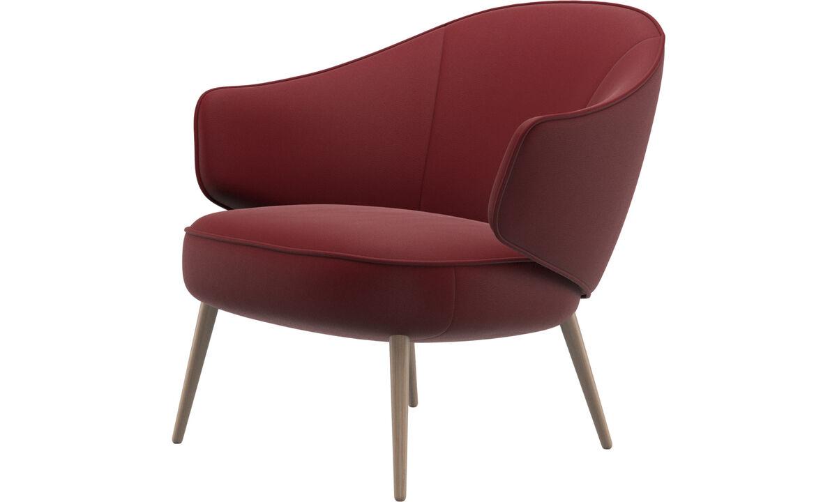 Fauteuils - Charlotte fauteuil - Rood - Leder