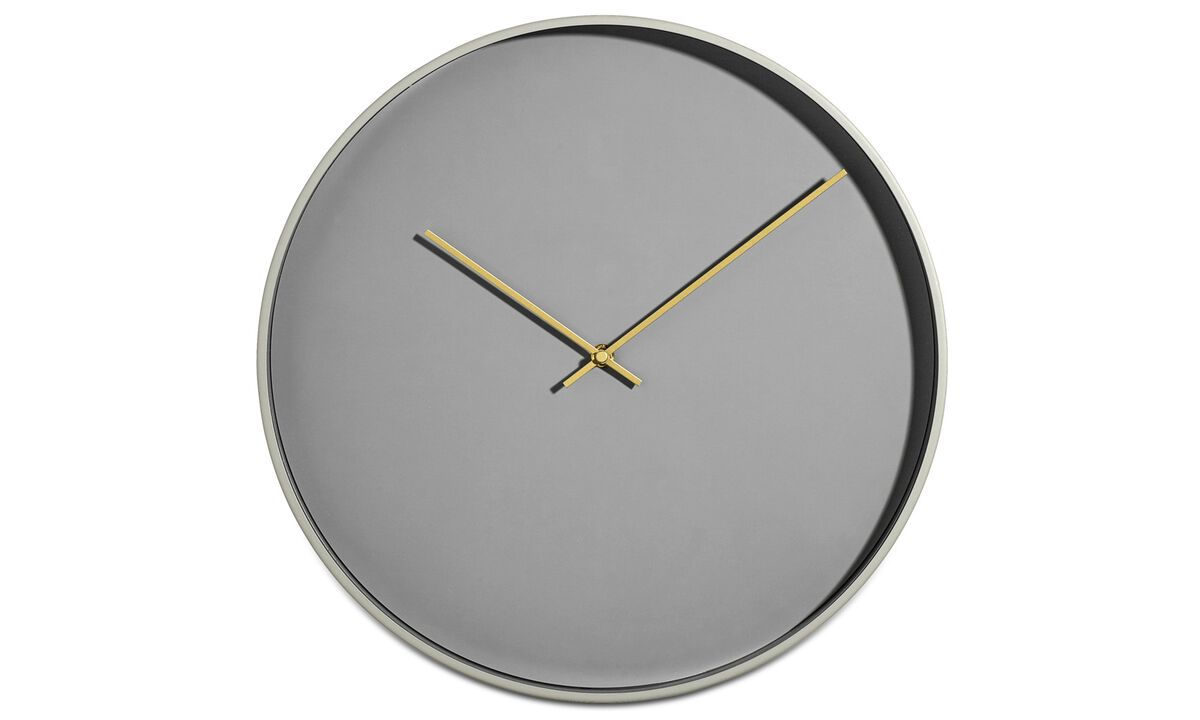 Clocks  - Vega wall clock - Grey - Metal