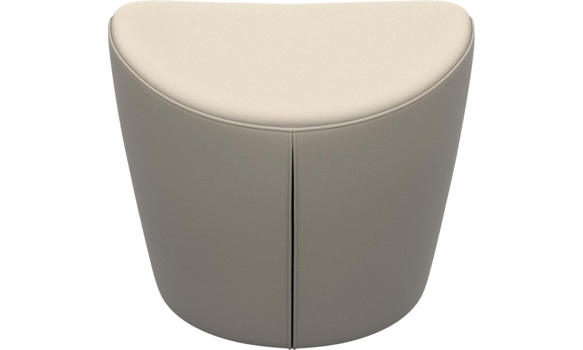 Footstools - Rico footstool - White - Leather