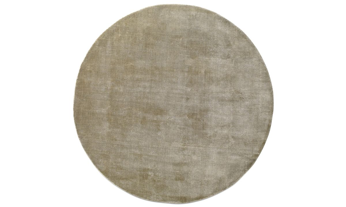 Teppiche - Meinus Teppich - rund - Grau - Stoff