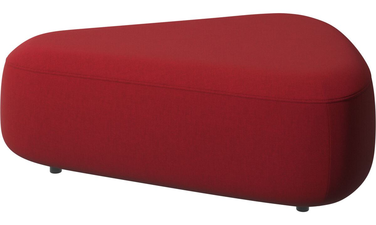 Footstools - Ottawa triangular pouf - Red - Fabric
