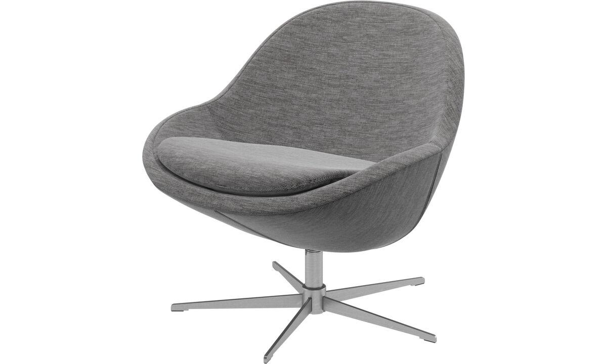 Armchairs - Veneto chair with swivel function - Gray - Fabric