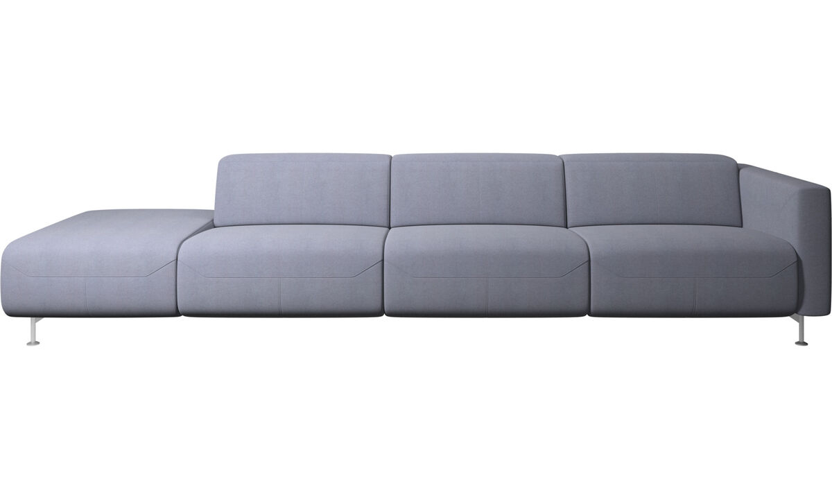 Recliner sofas - Parma reclining sofa with open end - Blue - Fabric