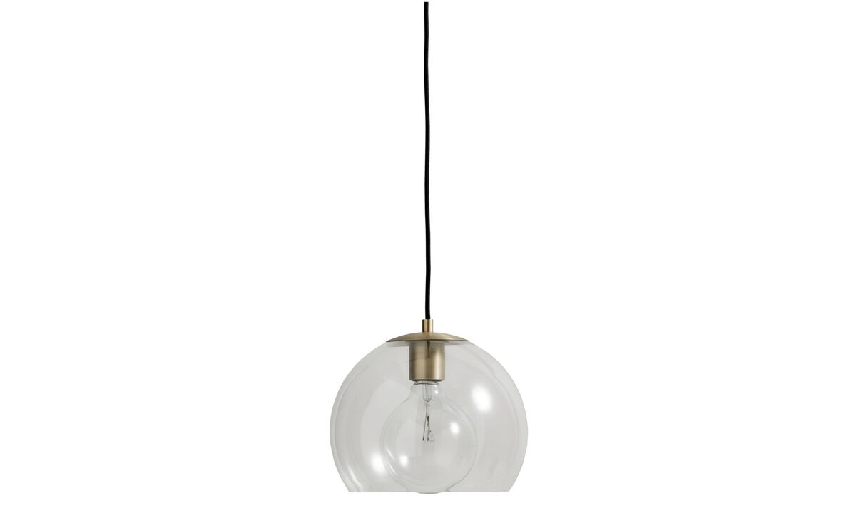 Luminaires - Suspension Ball - Verre transparent - Métal