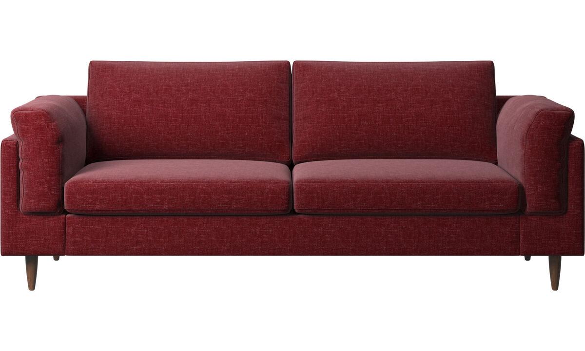 Sofás de 2 plazas y media - sofá Indivi 2 - Rojo - Tela