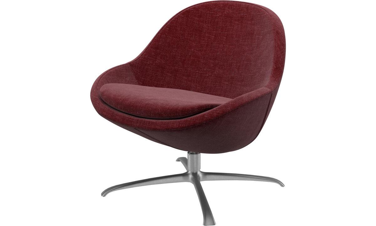Fauteuils - fauteuil Veneto avec fonction pivotante - Rouge - Tissu