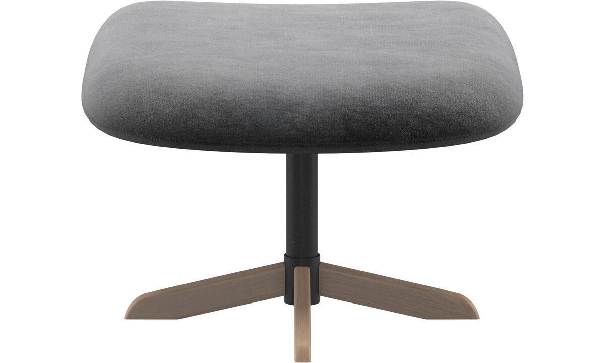 Footstools - Athena footstool - Grey - Fabric
