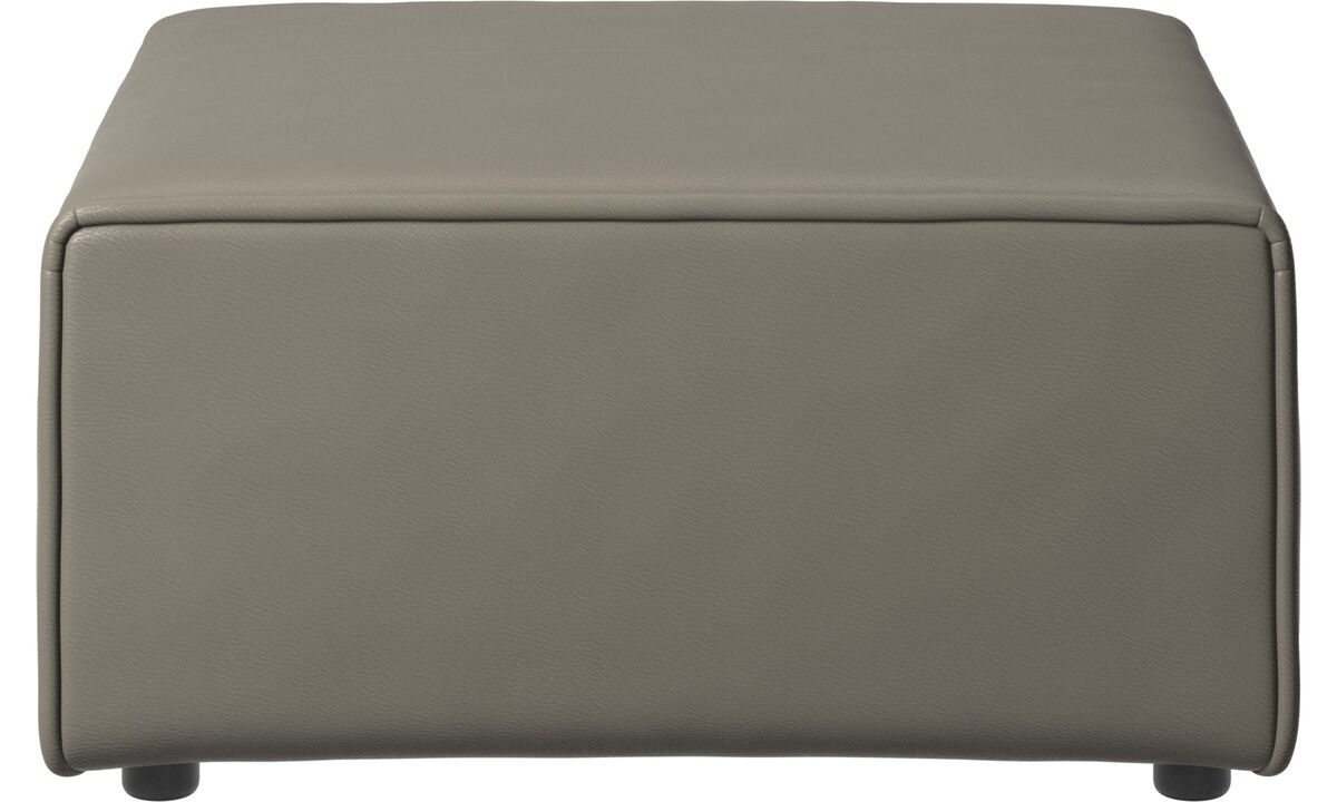 Modular sofas - Carmo footstool - Grey - Leather