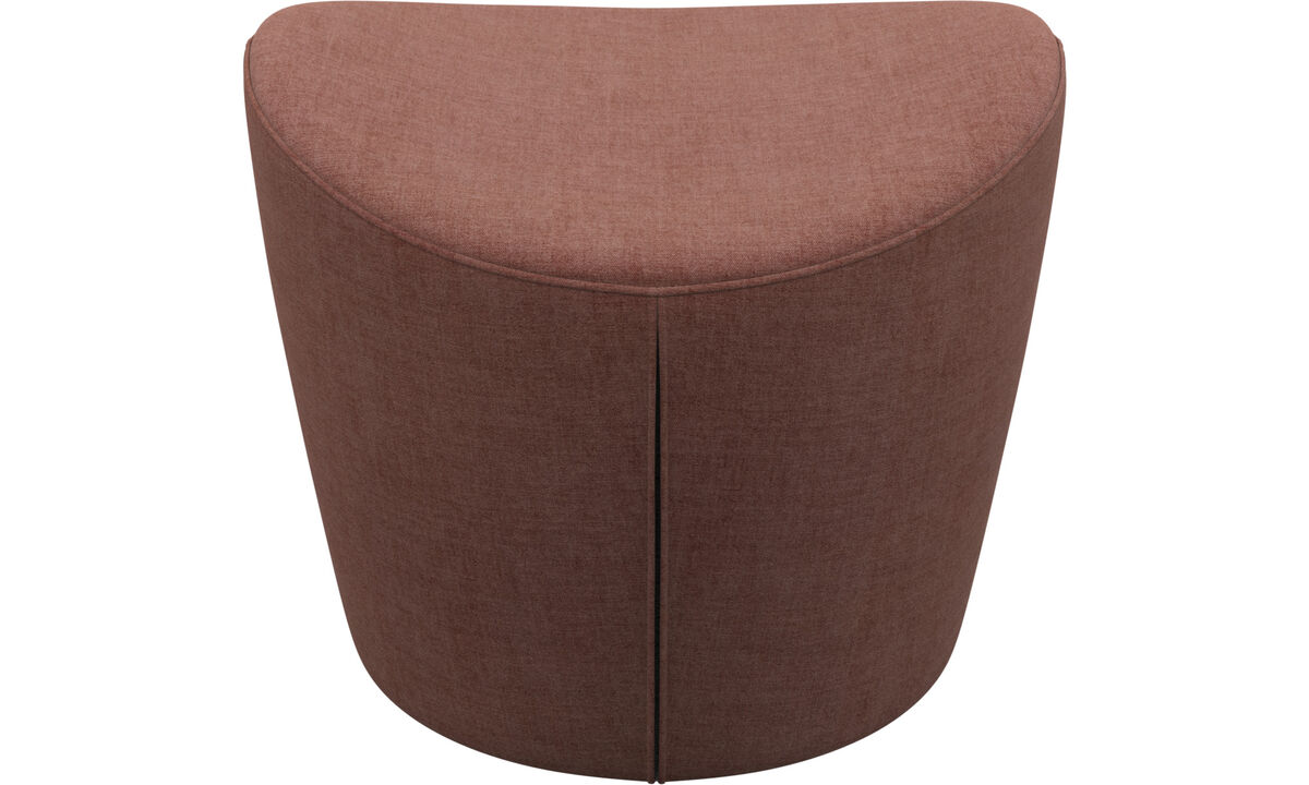 Footstools - Rico footstool - Red - Fabric