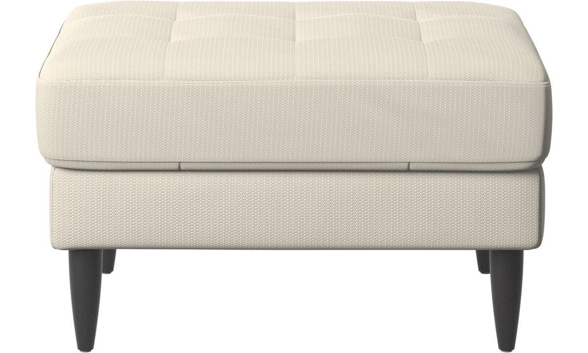 Nuevos diseños - puf Osaka, asiento en capitoné - Blanco - Tela