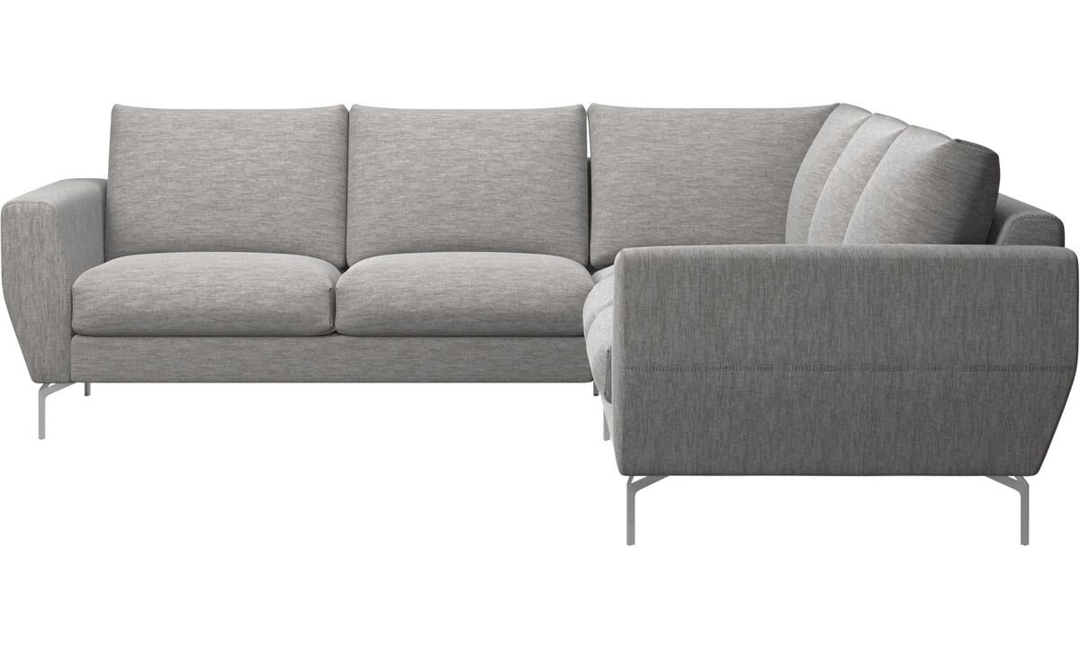 Sofas - Nice corner sofa - Grey - Fabric
