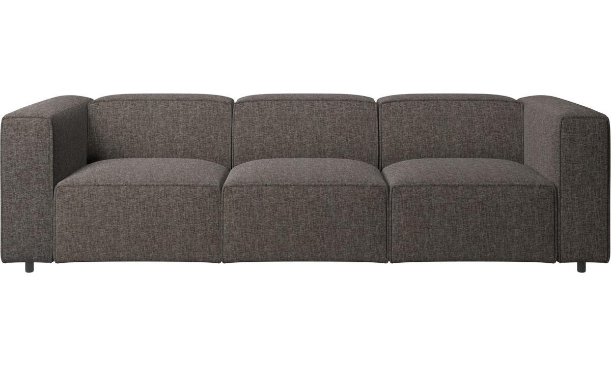3 personers sofaer - Carmo sofa - Brun - Stof