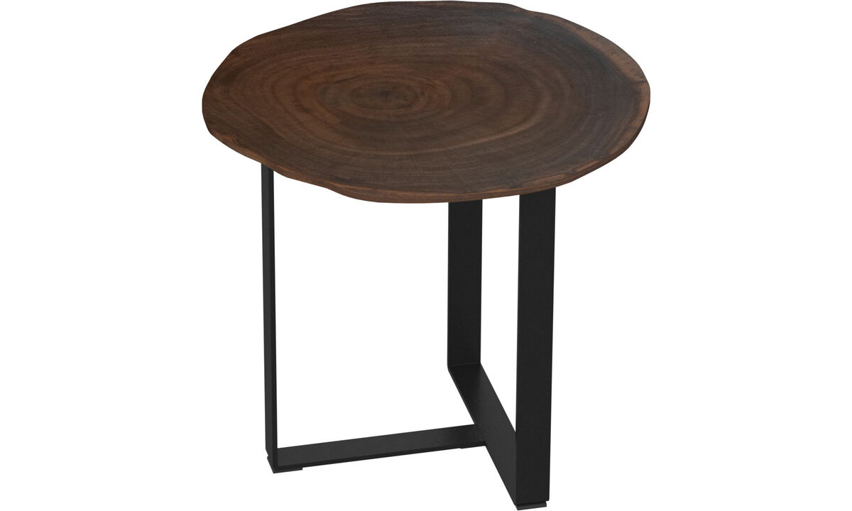 Tables d'appoint - table d'appoint Basel - rotonde - Marron - Laqué
