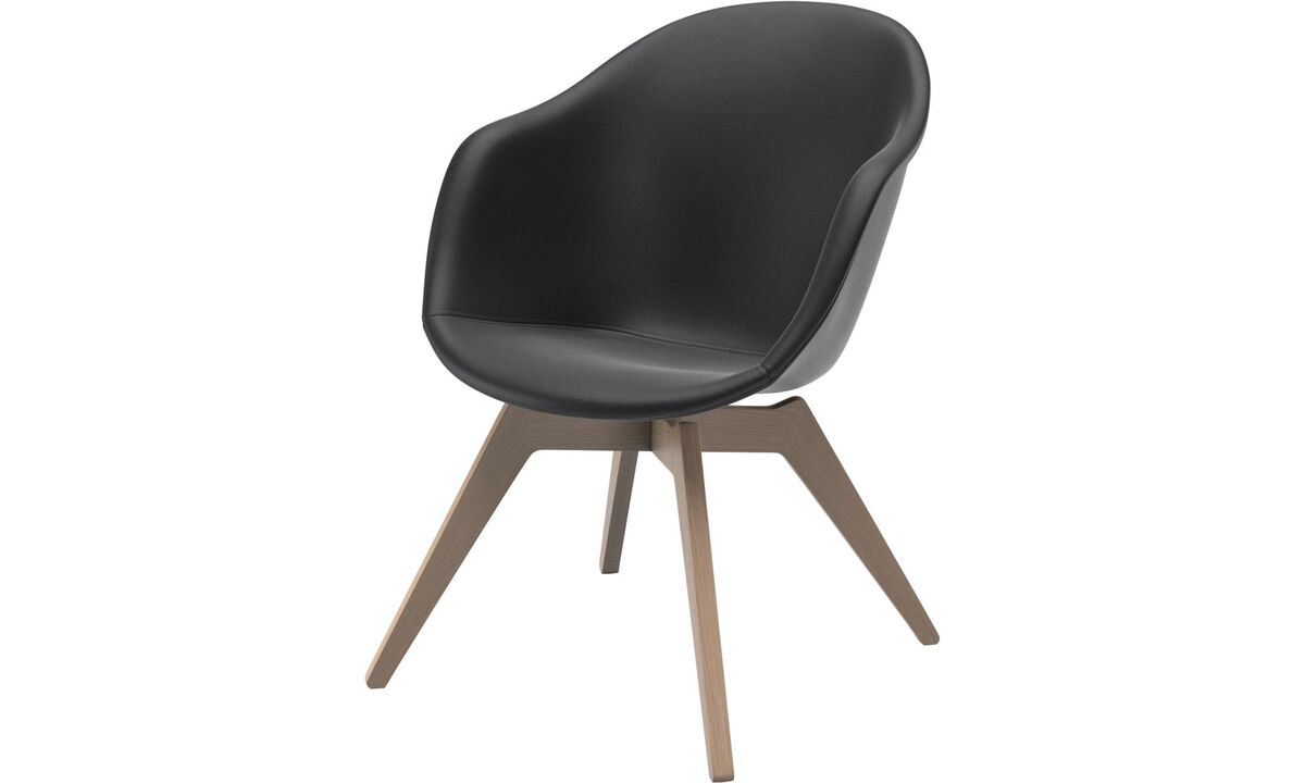Adelaide lounge chair - Black - Leather