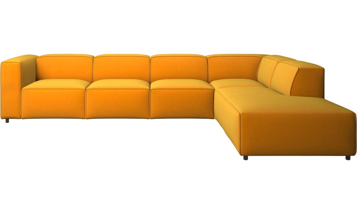 Sofás con lado abierto - sofá esquinero Carmo con módulo de descanso - Naranja - Tela