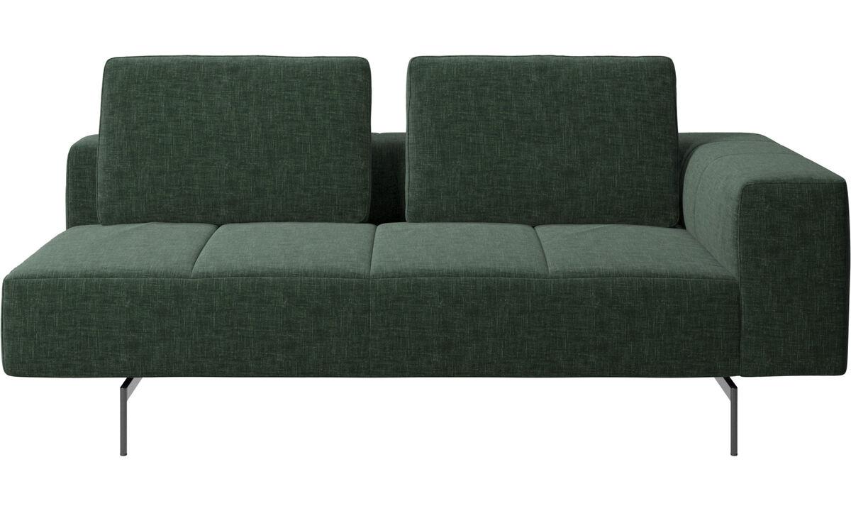 Canapés 2 places et demi - Module d'assise Amsterdam 2,5places, accoudoir droit - Vert - Tissu