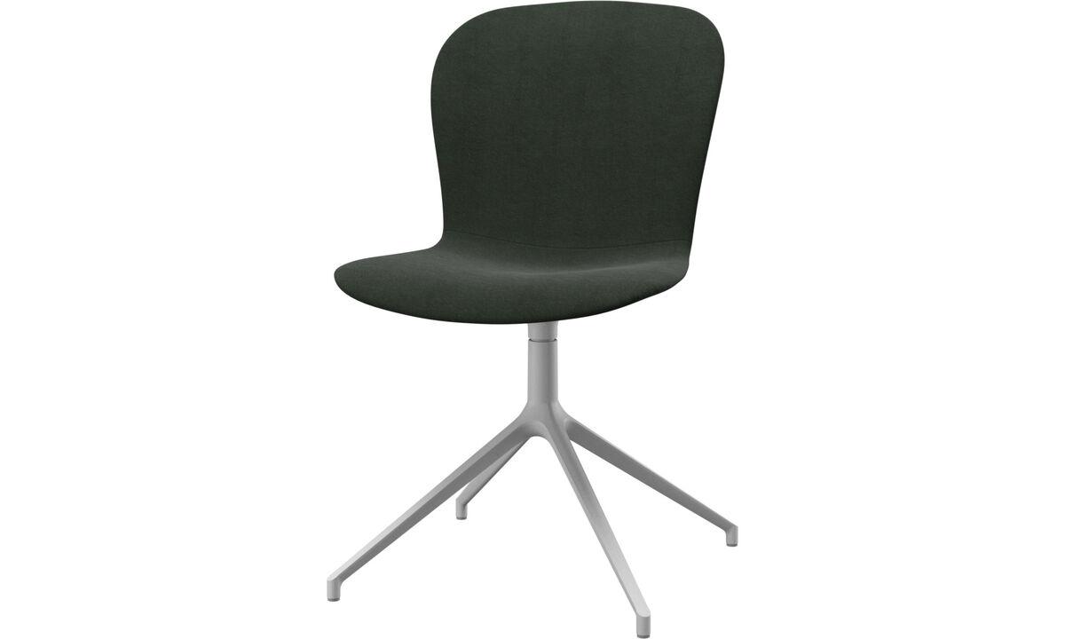 Chaises - chaise Adelaide avec fonction pivotante - Vert - Tissu