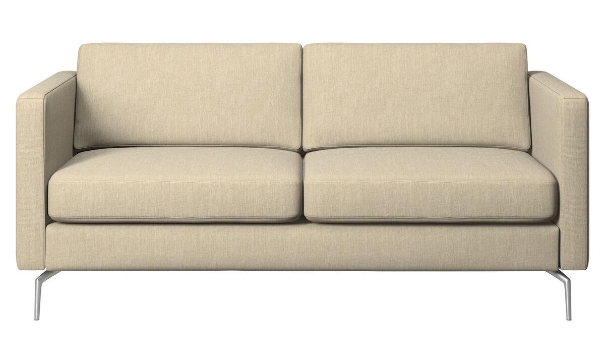2 seater sofas - Osaka sofa, regular seat - Brown - Fabric