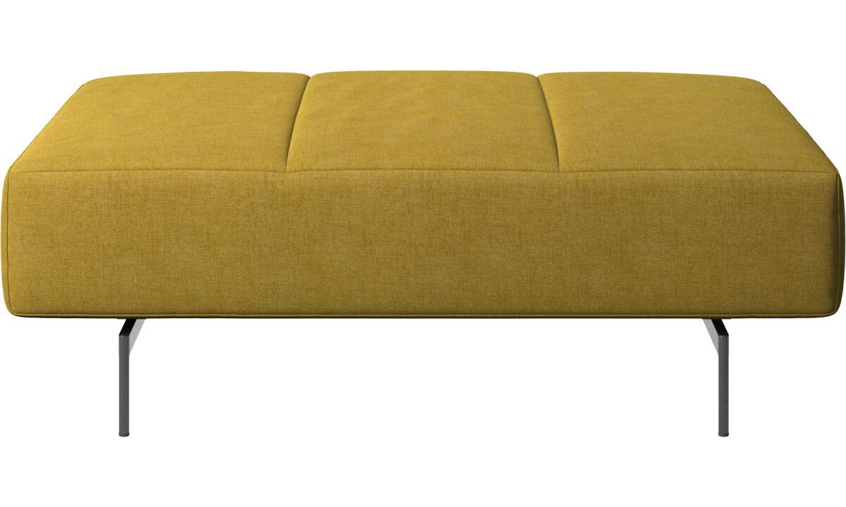 Footstools - Amsterdam footstool - Yellow - Fabric