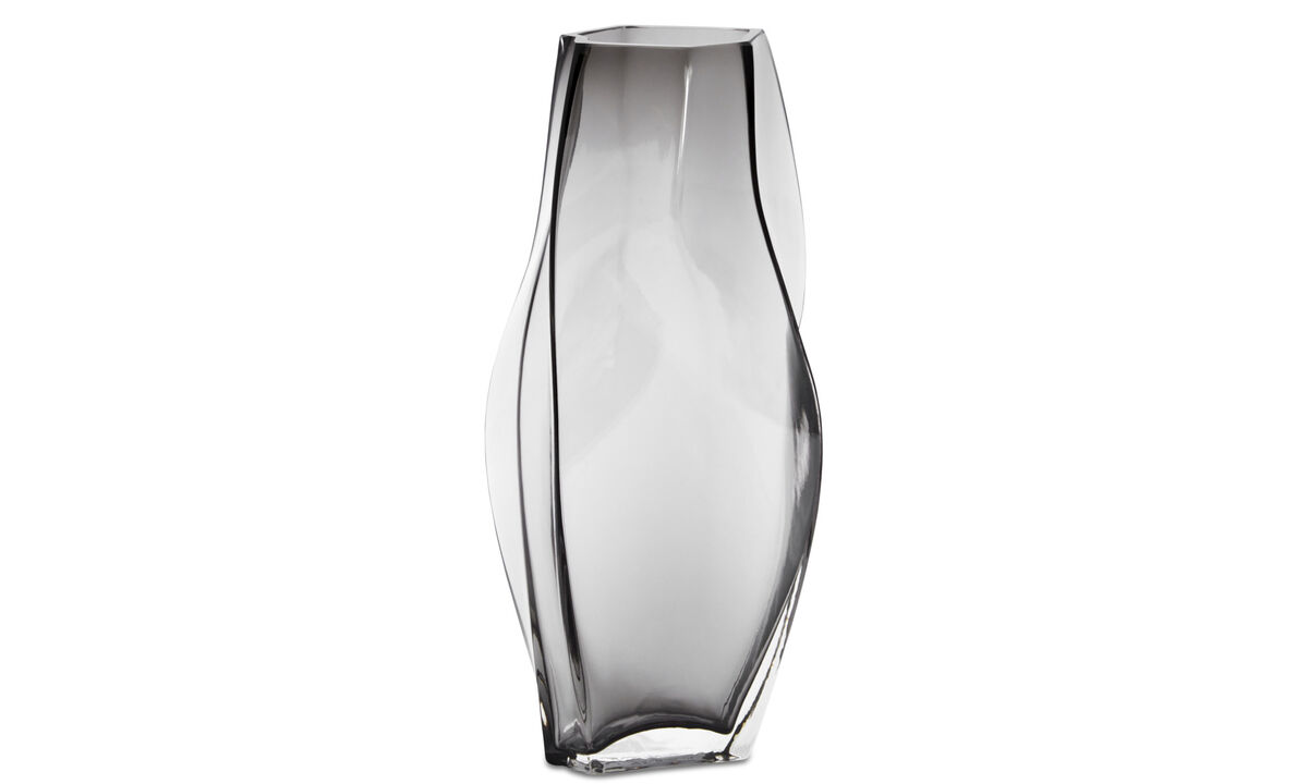 Vases - Contour vase - Grey - Glass
