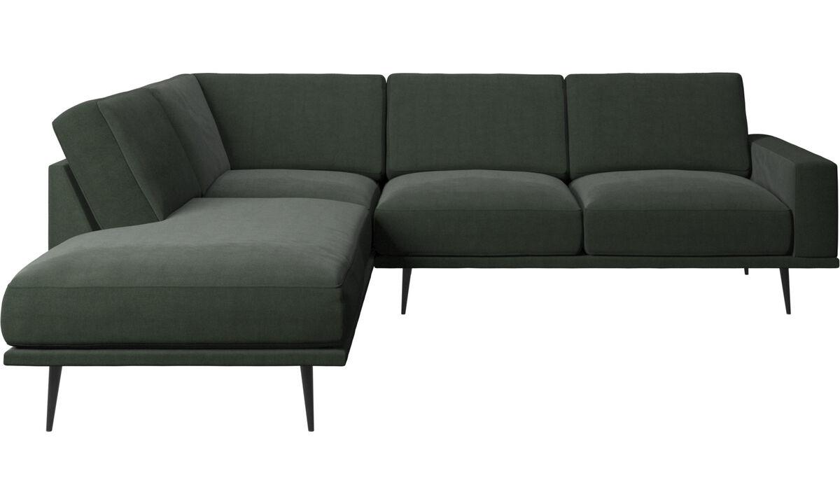 Sofás con lado abierto - sofá Carlton con módulos de descanso - En verde - Tela