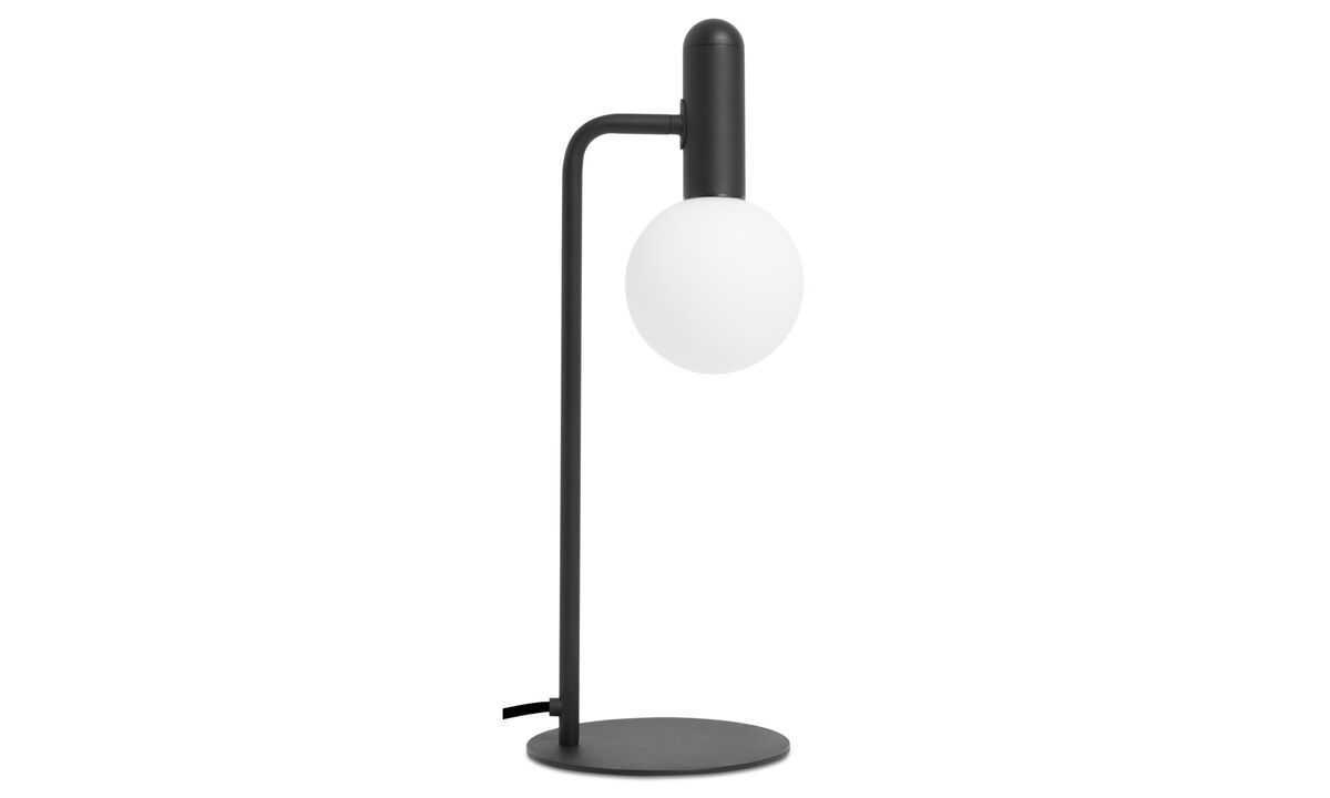 Lamper - Orb bordlampe - Sort - Metal