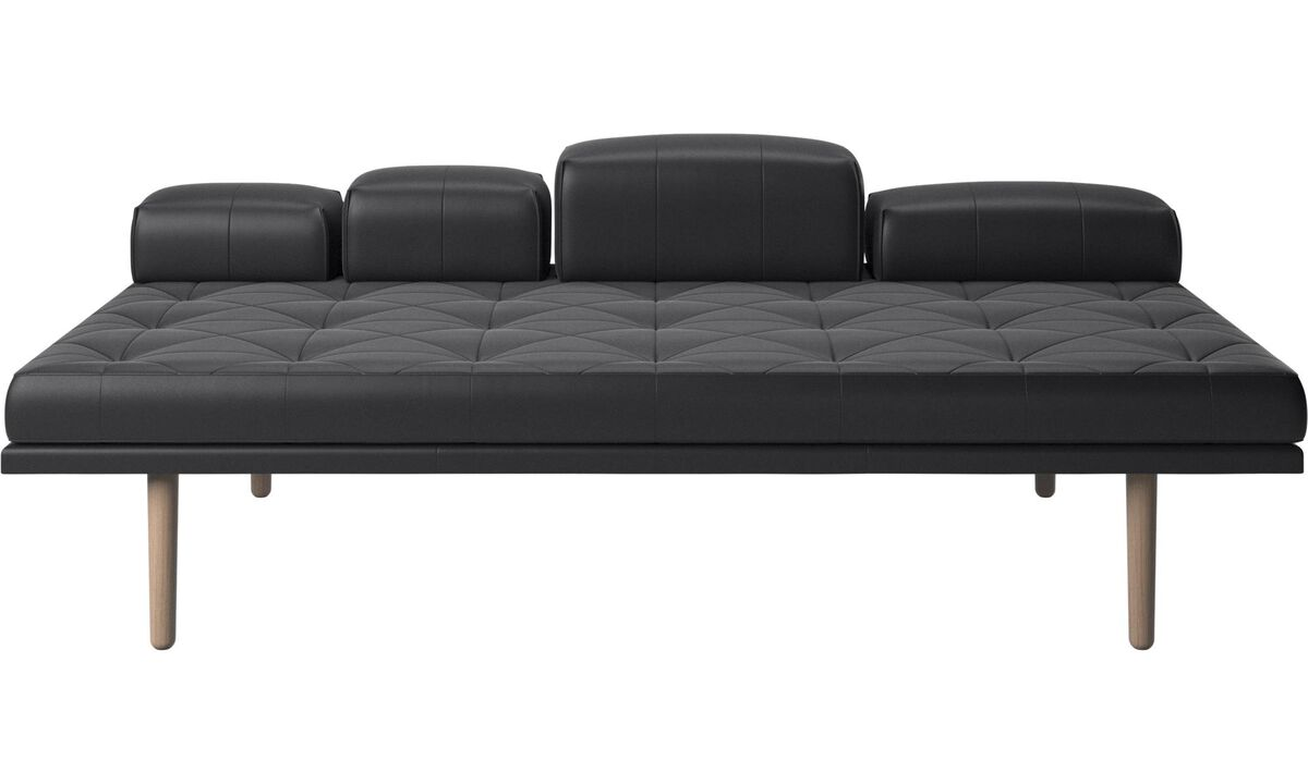 Daybeds - fusion day bed - Black - Leather